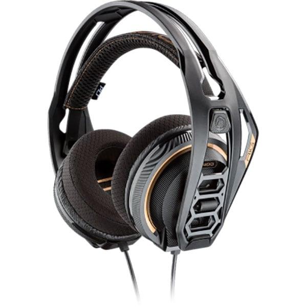 Casti gaming PLANTRONICS Rig 400PC, Noise cancelling, Binaural, multiplatforma, 3.5mm, negru
