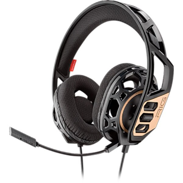Casti gaming PLANTRONICS Rig 300, Noise cancelling, Binaural, Xbox One, PS4 , Laptop/PC, 3.5mm, negru