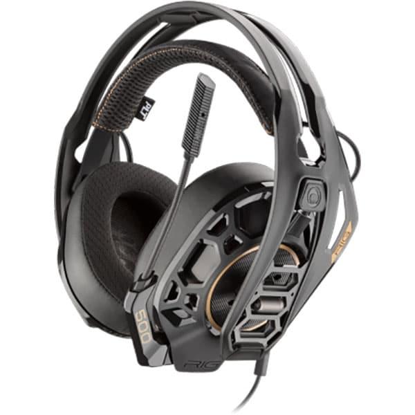 Casti gaming PLANTRONICS Rig 500Pro Hc Dolby Atmos, Noise cancelling, Binaural, multiplatforma, 3.5mm, negru