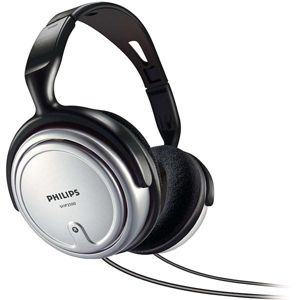 Casti PHILIPS SHP2500/10, Cu Fir, On-Ear, argintiu