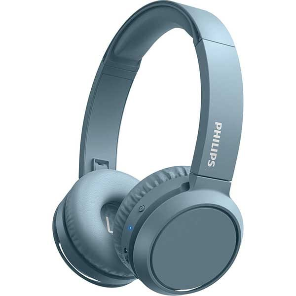 Casti PHILIPS TAH4205BL/00, Bluetooth, On-Ear, Microfon, albastru