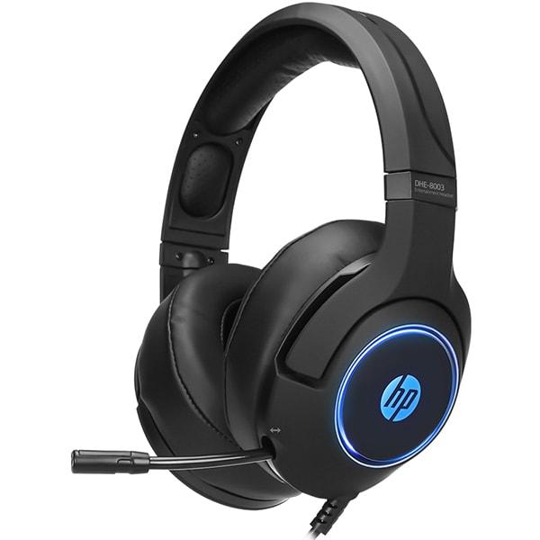 Casti Gaming HP DHE-8003, 7.1 virtual surround, USB, negru
