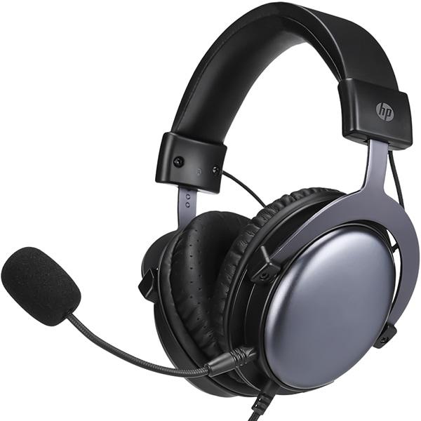 Casti Gaming HP DHE-8005, Stereo, 3.5mm, negru-argintiu