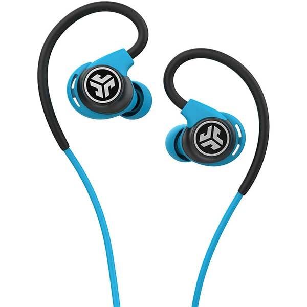 Casti JLAB Fit Sport 3, Cu Fir, In-Ear, Microfon, albastru