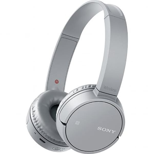 Casti SONY WHCH500H, Bluetooth, NFC, On-Ear, Microfon, gri