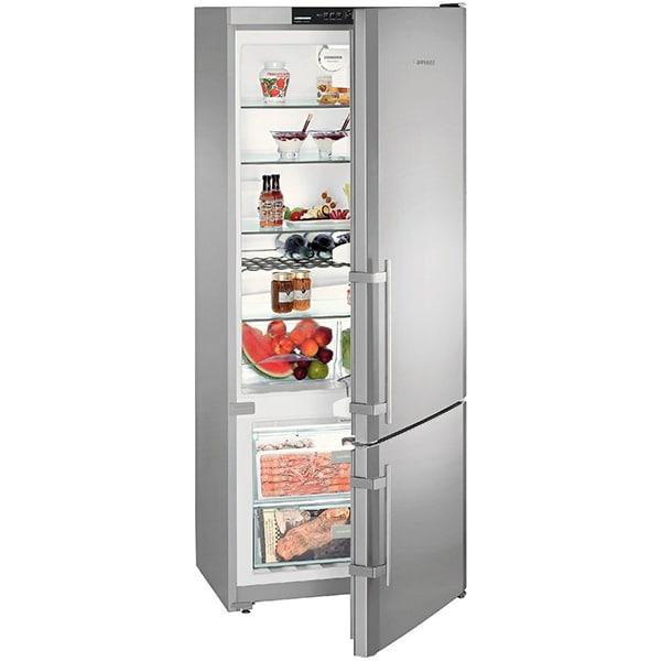 Combina frigorifica LIEBHERR CNPesf 4613, Comfort NoFrost, 420 l, H 186 cm, Clasa F, inox