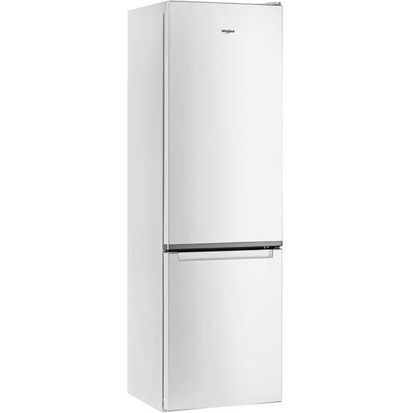 Combina frigorifica WHIRLPOOL W5 911E W, Less Frost, 372 l, H 201.1 cm, Clasa F, 6th Sense, alb