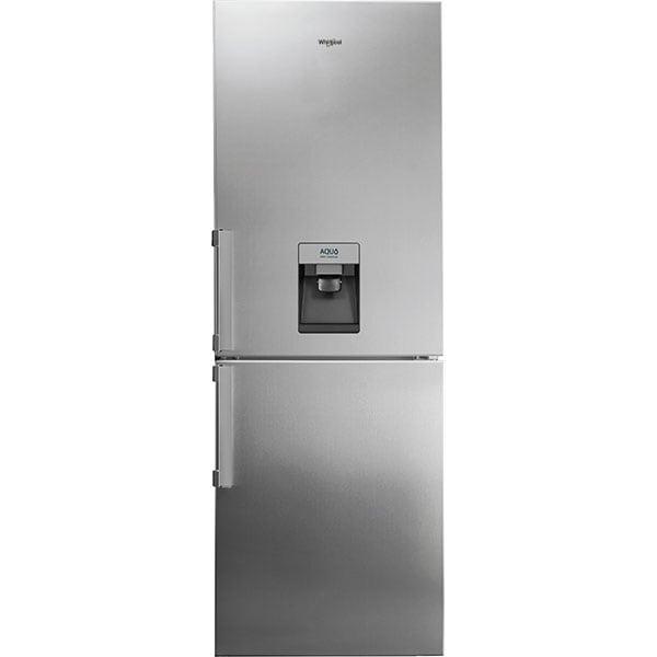 Combina frigorifica WHIRLPOOL WB70I 952 X AQUA, No Frost, 439 l, H 195 cm, Clasa E, Dozator apa, Total No Frost, inox