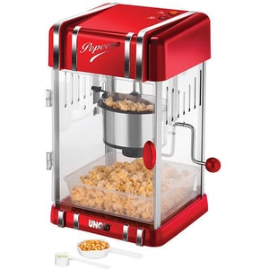 Aparat de facut popcorn UNOLD U48535, 300W, rosu-argintiu