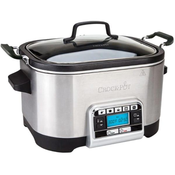 Multicooker CROCK-POT CSC024X-01, 5.6l, 240W, 5 programe, argintiu-negru