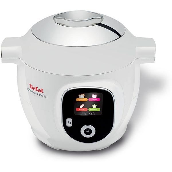 Multicooker TEFAL Cook4Me+ CY851130, 6l, 1600W, 6 programe, alb-gri