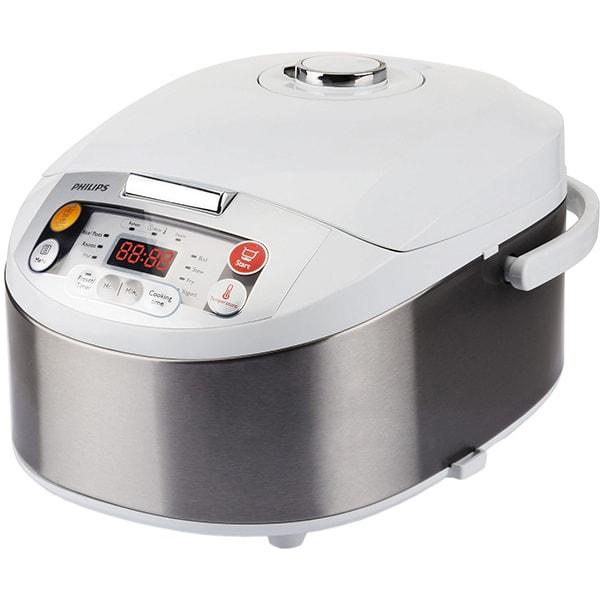 Multicooker PHILIPS Viva Collection HD3037/70, 5l, 980W, 12 programe, argintiu-alb
