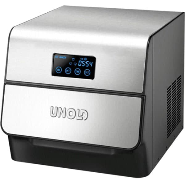 Masina pentru cuburi de gheata UNOLD U48955, 0.6l, 150W, argintiu-negru