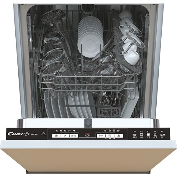 Masina de spalat vase incorporabila CANDY CDIH 1L949, 9 seturi, 5 programe, Clasa F, negru