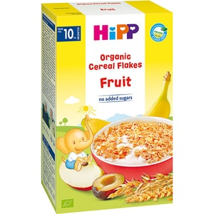 Fulgi de cereale ecologice HIPP cu fructe 1327, 10 luni+, 200g