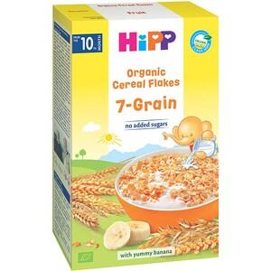Fulgi de cereale ecologice HIPP 7 cereale cu banane 1327, 10 luni+, 200g