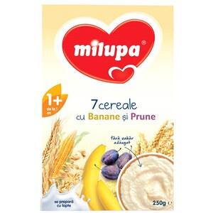 Cereale MILUPA MILUMIL Musli Junior 7 cereale cu banane si prune 544480, 12 luni+, 250g
