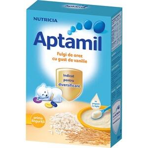 Cereale APTAMIL Fulgi de orez cu gust de vanilie 608762, 4 luni+, 200g