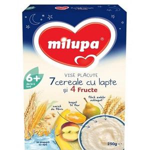 Cereale MILUPA MILUMIL Vise placute 7 cereale si 4 fructe 610842, 6 luni+, 250g