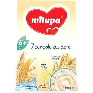 Cereale MILUPA MILUMIL 7 cereale cu lapte 622864, 6 luni+, 250g
