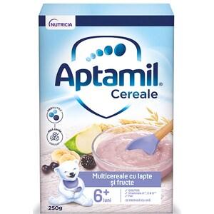 Cereale APTAMIL 7 cereale cu lapte si mere 657540, 8 luni+, 225g