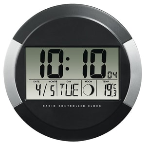 Ceas de perete cu radio HAMA PP-245, negru
