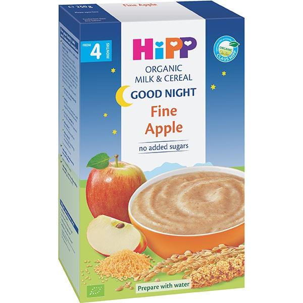 Cereale HIPP cu lapte si mar Good Night 1402, 4 luni+, 250g