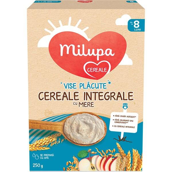 Cereale integrale MILUPA MILUMIL Vise Placute cu mere 657533, 8 luni+, 250g