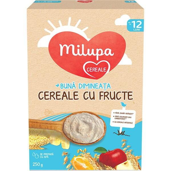 Cereale MILUPA MILUMIL Buna dimineata cu fructe 657551, 12 luni+, 250g