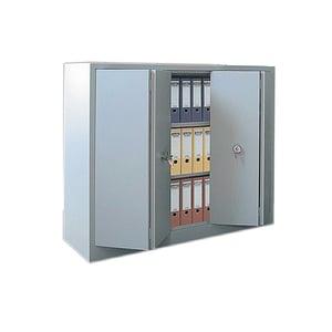 Dulap metalic CEHA, 120 x 42 x 100 cm, 2 usi pliabile, 2 rafturi, gri