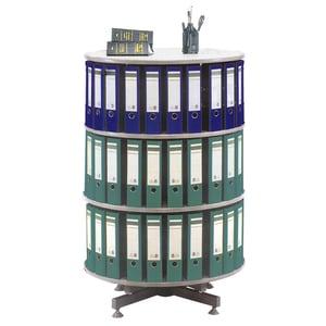 Coloana rotativa pentru bibliorafturi CEHA, 80 x 93 cm, PFL, gri