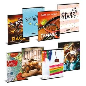 Set 10 caiete pentru scoala ASTRA POLONIA, dictando, A4, 52 file, legatura capsata, diverse modele