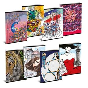 Set 10 caiete pentru scoala ASTRA POLONIA Lux, dictando, A5, 52 file, legatura capsata, diverse modele