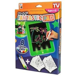 Tabla de desenat cu lumini MEDIASHOP Starlyf Fantastic Pad M22120, 3 ani+, verde-negru