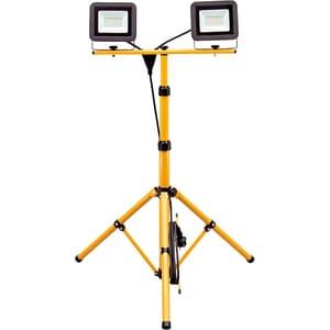 Proiector LED cu stativ HOME FLS 2/30 SMD, 2 x 30W, 2250 lumeni, negru-galben