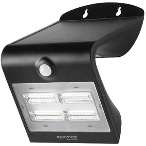 Lampa solara cu senzor de miscare PROMATE SolarTrail-2, 3.2W, 400 lumeni, IP54, negru