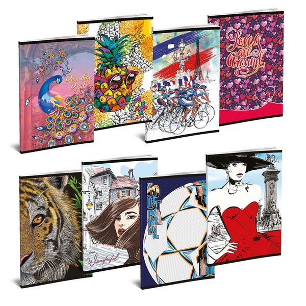 Set 10 caiete pentru scoala ASTRA POLONIA Lux, matematica, A5, 52 file, legatura capsata, diverse modele