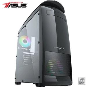Sistem Desktop Gaming MYRIA Digital 34Win Powered by ASUS, Intel Core I5-10400F pana la 4.3GHz, 16GB, SSD 240GB + HDD 1TB, NVIDIA GeForce GTX 1650 4GB, Windows 10 Home