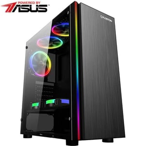 Sistem Desktop Gaming MYRIA Digital V29, Intel Core i5-9400F pana la 4.1GHz, 16GB, SSD 240GB, NVIDIA GeForce GTX 1660 6GB, Ubuntu