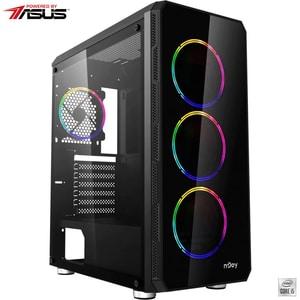 Sistem Desktop Gaming MYRIA Digital 33 Powered by ASUS, Intel Core I5-10400F pana la 4.3GHz, 16GB, SSD 240GB + HDD 1TB, NVIDIA GeForce GTX 1660 Super 6GB, Ubuntu