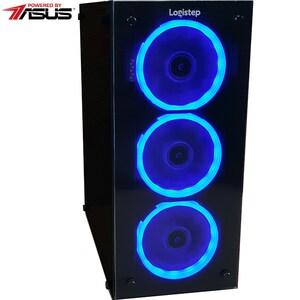 Sistem Desktop PC MYRIA Style V52 Powered by Asus, AMD RYZEN 5 2400Gpana la 3.9GHz, 8GB, 1TB + SSD 120GB, NVIDIA GeForce GTX 1060 6GB, Ubuntu