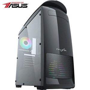 Sistem Desktop Gaming MYRIA Style V61 Powered by Asus, AMD Ryzen 5-3600 pana la 4.2GHz, 16GB, SSD 240GB, NVIDIA GeForce GTX 1650 4GB, Ubuntu
