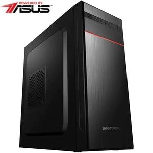 Sistem Desktop PC MYRIA Style V65 Powered by ASUS, AMD Ryzen 5 1600 pana la 3.6GHz, 16GB, 1TB + SSD 480GB, NVIDIA GeForce GT 710 2GB, Ubuntu