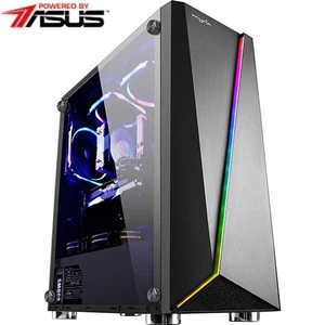 Sistem Desktop PC MYRIA Vision 34 Powered by Asus, Intel Core i5-9600KF pana la 4.6GHz, 16GB, SSD 240GB, NVIDIA GeForce GTX 1660 Super 6GB, Ubuntu