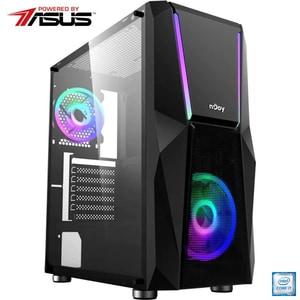 Sistem Desktop Gaming PC MYRIA Vision V42 Powered by ASUS, Intel Core i7-9700F pana la 4.7GHz, 32GB, 1TB + SSD 480GB, NVIDIA GeForce RTX 3060 Ti 8GB, Ubuntu