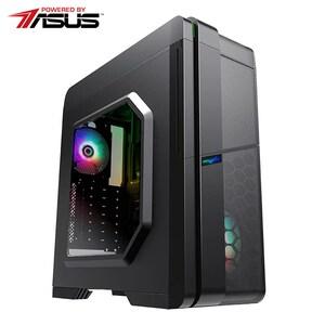 Sistem Desktop PC MYRIA Style V55WIN Powered by Asus, AMD Ryzen 5-3400G pana la 4.2GHz, 8GB, SSD 240GB, AMD Radeon RX Vega 11 Graphics, Windows 10 Home