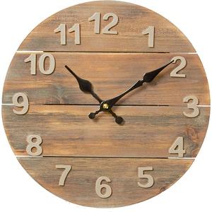 Ceas de perete NEDIS CLWA002WD30, 12 cifre, diametru 30 cm, maro