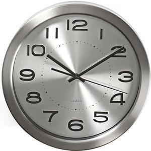 Ceas de perete NEDIS CLWA010MT30SR, 12 cifre, diametru 30 cm, argintiu