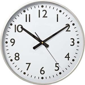 Ceas de perete NEDIS CLWA016PC38AL, 12 cifre, diametru 30 cm, fundal alb, argintiu