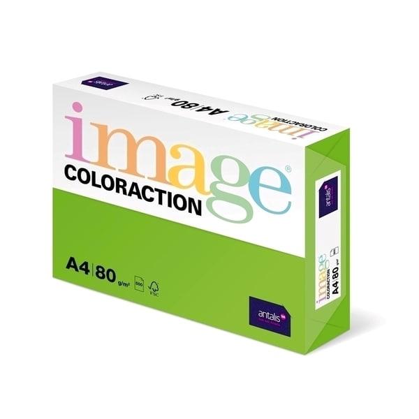 Hartie color pentru copiator COLORACTION, A4, 500 coli, verde intens-Java